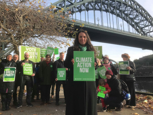 Tay at the NE launch of the Green Party Manifesto